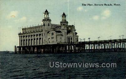 The Pier - Revere Beach, Massachusetts MA Postcard