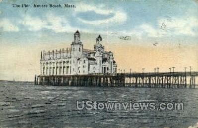 The Pier - Revere Beach, Massachusetts MA Postcard