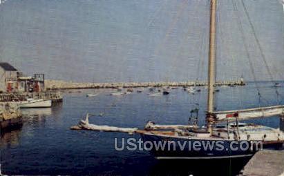 Rockport Harbor & Breakwater - Massachusetts MA Postcard