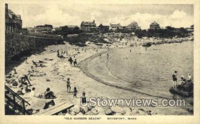 Old Garden Beach - Rockport, Massachusetts MA Postcard