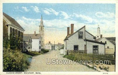 Cleaves St. - Rockport, Massachusetts MA Postcard