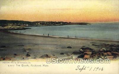 The Beach - Rockport, Massachusetts MA Postcard
