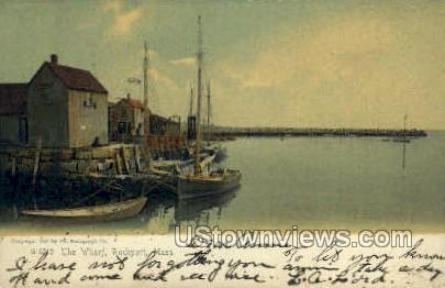 The Wharf - Rockport, Massachusetts MA Postcard