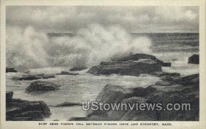 Surf, Pigeon Hill - Rockport, Massachusetts MA Postcard