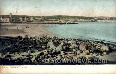 Beach - Rockport, Massachusetts MA Postcard