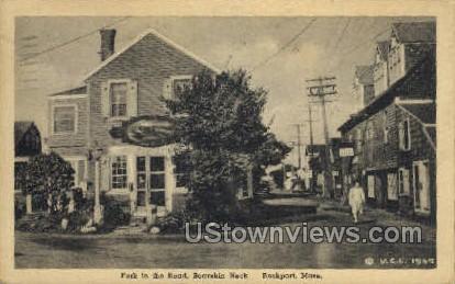 Fork in the Road, Bearskin Neck - Rockport, Massachusetts MA Postcard