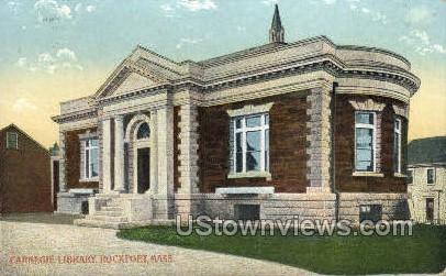 Carnegie Library - Rockport, Massachusetts MA Postcard