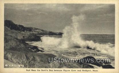 Surf, Devil's Den - Rockport, Massachusetts MA Postcard
