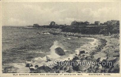 Old Garden Beach & Cottages - Rockport, Massachusetts MA Postcard
