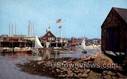 Rockport Yacht Club - Massachusetts MA Postcard