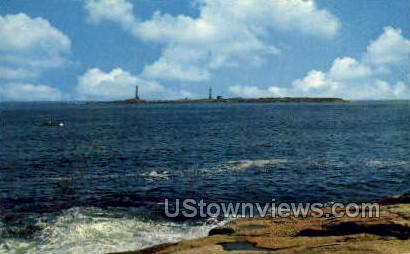 Twin Lights, Thatchers Island - Rockport, Massachusetts MA Postcard