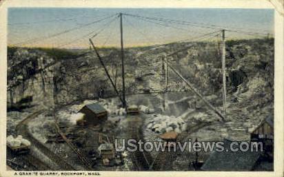 Granite Quarry - Rockport, Massachusetts MA Postcard
