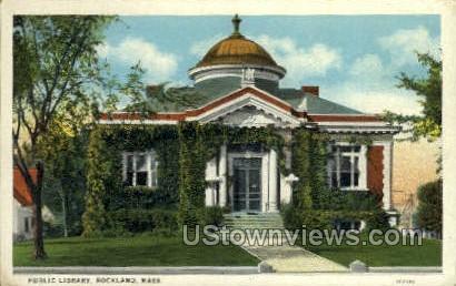 Public Library - Rockport, Massachusetts MA Postcard