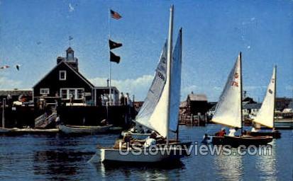 Sandy Bay Yacht Club - Rockport, Massachusetts MA Postcard