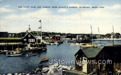 The Yacht Club & Harbor - Rockport, Massachusetts MA Postcard