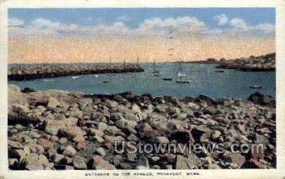 Entrance, Harbor - Rockport, Massachusetts MA Postcard