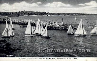 Yachts, Sandy Bay - Rockport, Massachusetts MA Postcard