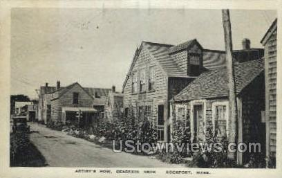 Artist's Row, Bearskin Neck - Rockport, Massachusetts MA Postcard