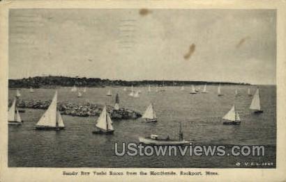 Sandy Bay Yacht Races - Rockport, Massachusetts MA Postcard