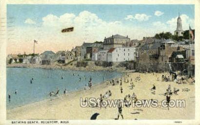 Bathing Beach - Rockport, Massachusetts MA Postcard