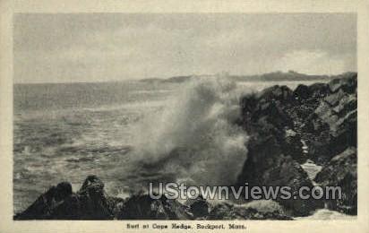 Surf, Cape Hedge - Rockport, Massachusetts MA Postcard
