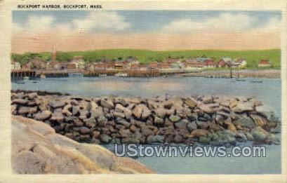 Rockport Harbor - Massachusetts MA Postcard