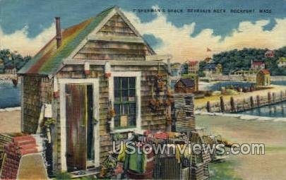 Fisherman's Shack, Bearskin Neck - Rockport, Massachusetts MA Postcard