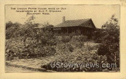 Paper House - Rockport, Massachusetts MA Postcard