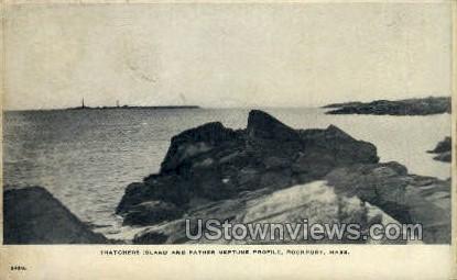 Thatchers Island - Rockport, Massachusetts MA Postcard