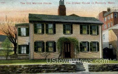 The Old Monroe House - Roxbury, Massachusetts MA Postcard