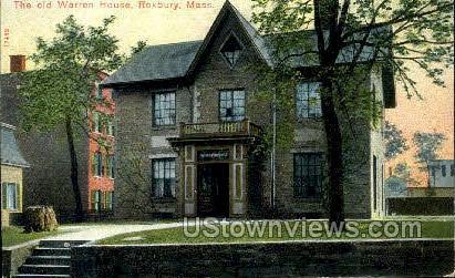 The Old Warren House - Roxbury, Massachusetts MA Postcard