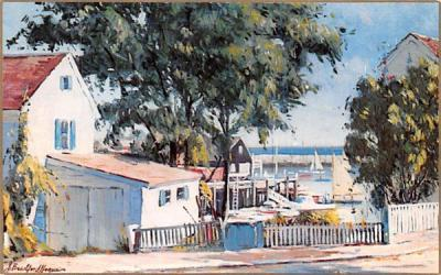 Corner of Atlantic Avenue Rockport, Massachusetts Postcard