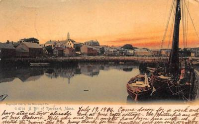 A Bit of Rockport Massachusetts Postcard