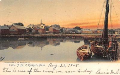 A Bit of Rockport Massachusetts Postcard