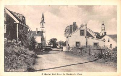 A Quaint Old Street Rockport, Massachusetts Postcard