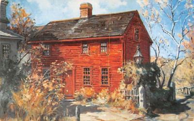 The Little Red House on Mill Lane Rockport, Massachusetts Postcard