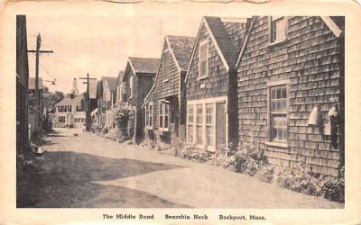 The Middle Raod Rockport, Massachusetts Postcard