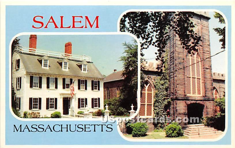 Ropes Mansion circa 1719 - Salem, Massachusetts MA Postcard