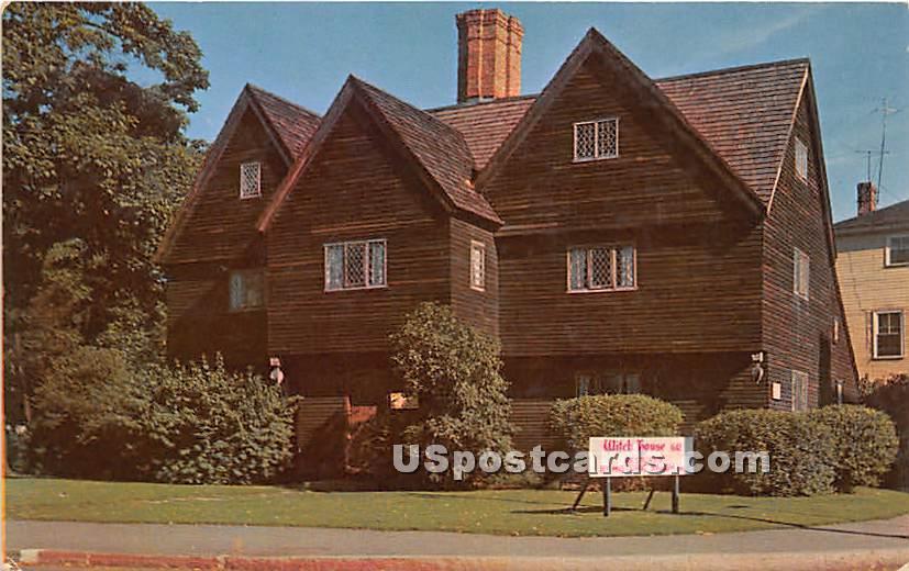 Witch House Built 1642 - Salem, Massachusetts MA Postcard