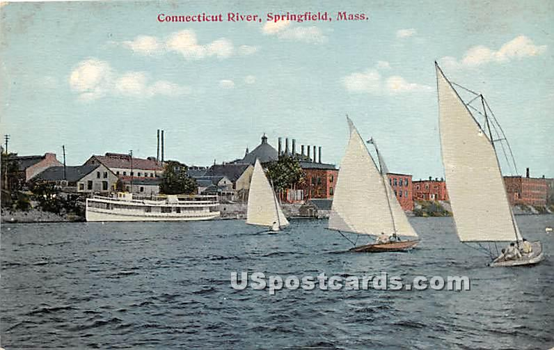 Connecticut River - Springfield, Massachusetts MA Postcard