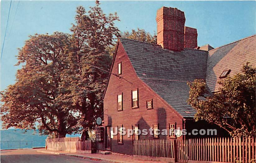 House of the Seven Gables built 1668 - Salem, Massachusetts MA Postcard