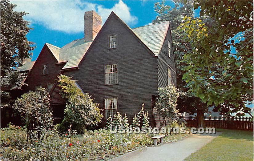 House of Seven Gables garden view - Salem, Massachusetts MA Postcard