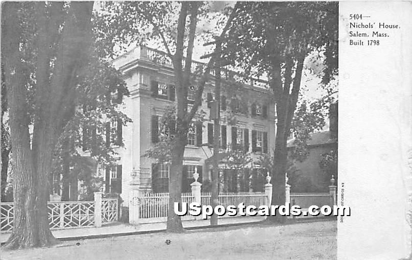Nichols' House Built 1798 - Salem, Massachusetts MA Postcard