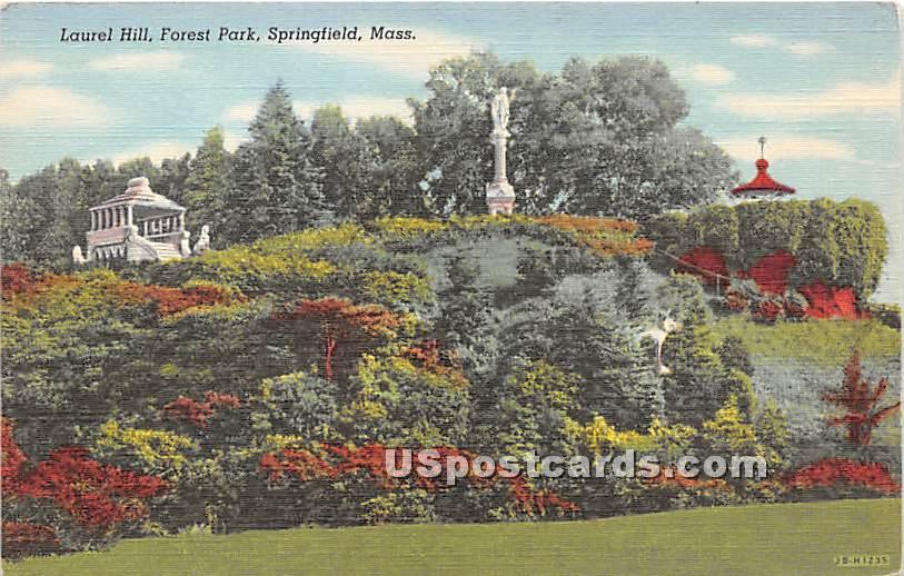 Laurel Hill & Forest Park - Springfield, Massachusetts MA Postcard