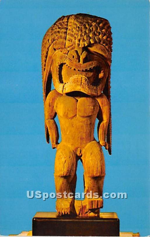 War God form the Hawaiian Temple - Salem, Massachusetts MA Postcard