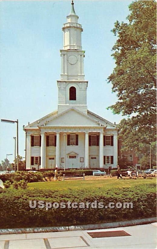 Old First Church - Springfield, Massachusetts MA Postcard