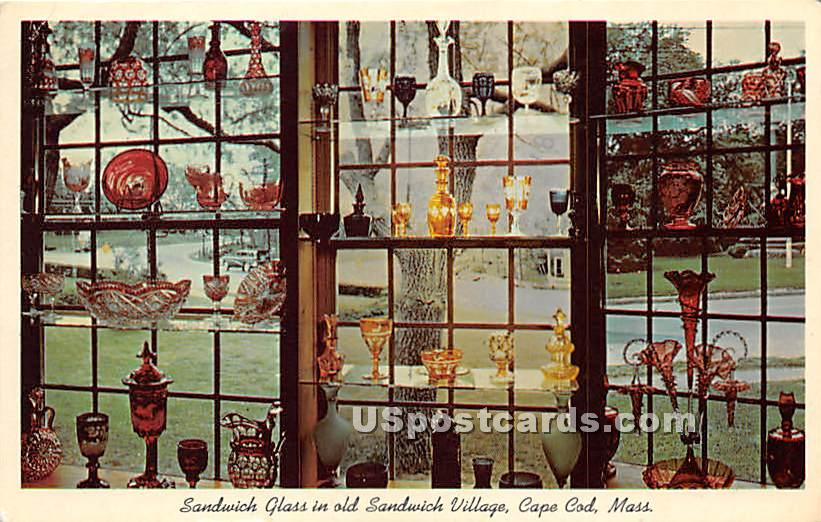 Sandwich Glass in old Sandwich Village - Massachusetts MA Postcard