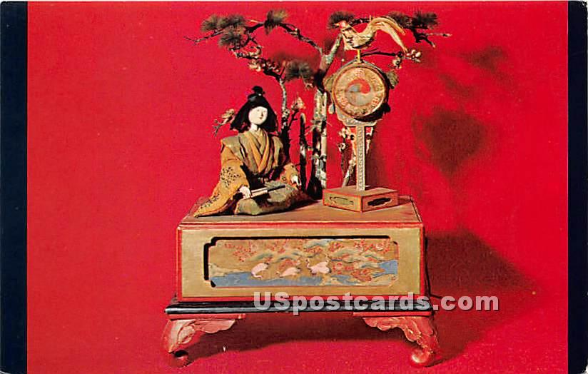 Karakuri Ningya Japanese Mechanical Doll 17th Century - Sandwich, Massachusetts MA Postcard