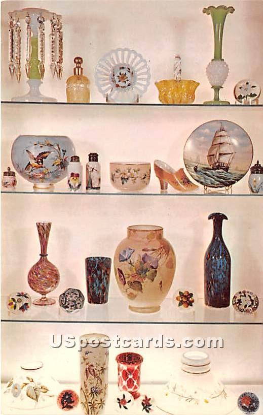 Art Galss at The Sandwich Glass Museum - Massachusetts MA Postcard