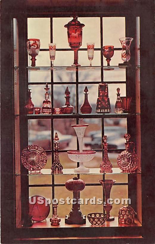 Ruby Window at The Sandwich Glss Museum - Massachusetts MA Postcard